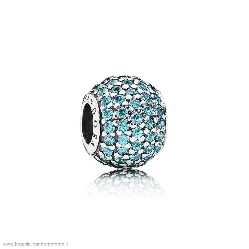 Pandora Componibili Sconto Scintillante Paves Charms Pave Luci Charm Teal Cz